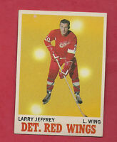 1970-71 TOPPS # 28 RED WINGS LARRY JEFFREY   CARD