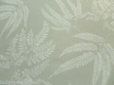 Zoffany Curtain Fabric KERNOW 1.0m Mist - Linen Mix Leaf Design 100cm