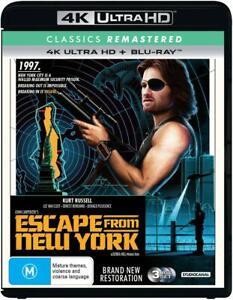 Escape From New York 4K RB blu ray 1981 John Carpenter's Kurt Russell