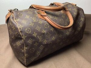 Authentic Louis Vuitton Hand Bag Speedy 35 Browns Monogram