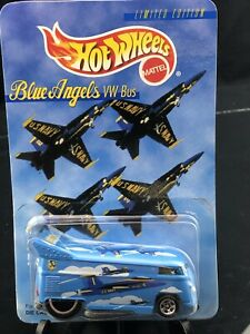 Hot Wheels Blue Angels VW Bus Limited Edition #19690 New NRFP 1997 Lt. Blue 1:64