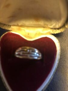 14ct 14k Gold Greek Key Band Ring Size 7 1/4 - O