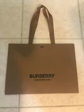 100% auth Burberry London Empty Shopping Gift Paper Bag Medium 16.5x12x4.5