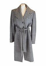 ESCADA Black & White Houndstooth Wool Coat, DE 40 UK 14 EU 44 US 10 IT 46
