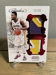 Julius Randle 2017-18 Panini Flawless Dual 3 Color Patch Ruby /15