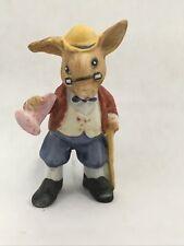 "Vintage Grandfather Rabbit Figurine Grandpa 3.5"" Animal Figure Made in Taiwan"