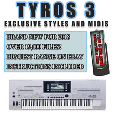 TYROS 3 EXCLUSIVE USB STYLES & MIDI COLLECTION. 19000 FILES+. BRAND NEW FOR 2018