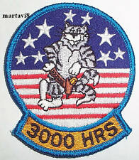 US.Navy `3000 HOURS` F-14 Tomcat Cloth Badge / Patch (F14-20)
