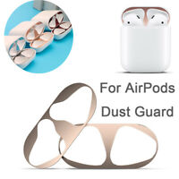 Dust Guard Protective Cover Iron Shavings Metal Film Sticker For AirPods Airpod