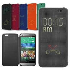 Neu Dot View Flip Handy Case Cover Tasche Schutz Hülle Etui Für HTC One M8 M9