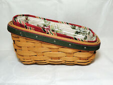 Longaberger 2007 Holiday Helper Sleigh Basket Combo with Liner and Protector Euc