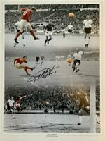 Signed Geoff Hurst England 1966 World Cup Final Autograph Goal Montage
