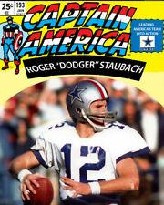 ROGER STAUBACH 8X10 PHOTO DALLAS COWBOYS NFL FOOTBALL CAPTAIN AMERICA