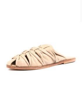 Urge Romy-Ur Nude Leather Flat Shoes Size 41
