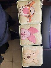"Winnie the Pooh Piglet Plush Fabric Tigger Nursery Wall Hangings Set of 3 9"""