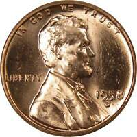 1958 D Lincoln Wheat Cent BU Uncirculated Mint State Bronze Penny 1c