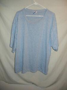 VTG 90's heather light blue blank CHAMPION brand t-shirt XXXL cotton plain gym