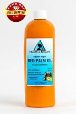 """PALM OIL """"RED"""" EXTRA VIRGIN UNREFINED ORGANIC CARRIER COLD PRESSED PURE 48 OZ"""