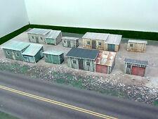 Z Scale Buildings - (8) Trackside Sheds  Cardstock kit set TS1