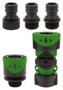 Fiskars, Green Thumb, Poly Full Flow Quick Connector Hose End & Faucet Set