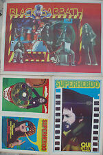 SUPERHEBDO N°43 poster psychédélique BLACK SABBATH POLNAREFF BRIALY JEAN FERRAT