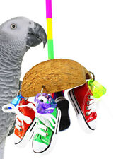 1504 COCO SNEAKER BIRD TOY parrot cage toys cages african grey amazon conure