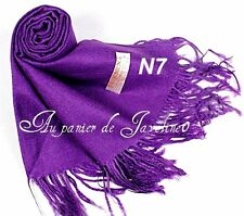 Echarpe Pourpre Femme foulard étole châle cache-nez pashmina N°7