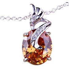 Joyería de Mujer Elegante Collar-Cadena Plateado Oro Morganita Gotas Regalo Ella