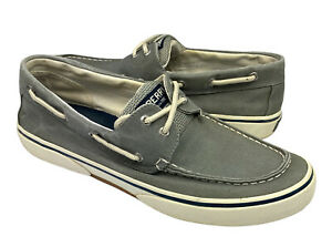 Sperry Top Sider Mens Canvas Lace Up Gray Sneaker Shoe Size US 11 Clean
