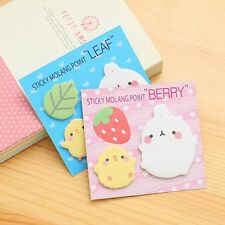Kawaii Animal Molang Rabbit Flower Friut Sticky Memo Pad Notes Post It Bookmark