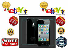 Apple iPhone 4S - Tempered Glass - Screen Protector - Scratch Guard Front & Back