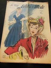 Le petit ECHO de la MODE 1948 n°21 premiers Narcisss sac nouveaux tendance mode