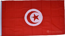 Tunisia Flag Large 5 x 3 FT With Eyelets - Tunisian National Country - Fast Post