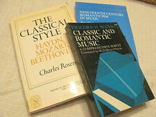 Classical and Romantic Music, 3 good books, Rosen, Blume, Longyear