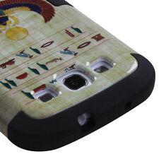 SAMSUNG GALAXY S3 i9300 i747 HARD SNAP ON HYBRID TUFF CASE GREEN SCARAB