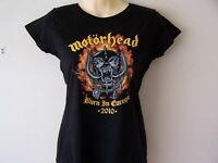 *NEW OFFICIAL* MOTORHEAD BURN IN EUROPE 2010 TOUR T SHIRT LADIES M L LEMMY