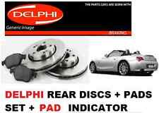 FOR BMW Z4 ROADSTER E85 2003-2009 NEW REAR DISCS + PADS KIT SET + PAD INDICATOR