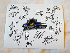 11/12 Lake Erie Monsters Team Auto Photo Tyson Barrie Colorado Avalanche