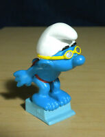 Smurfs 20440 Sport Swimmer Smurf Diving Figure Vintage Toy PVC Diver Figurine
