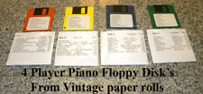 40 Songs Floppy Disk set 9- 12 for Player Piano's from Paper Player Piano Rolls