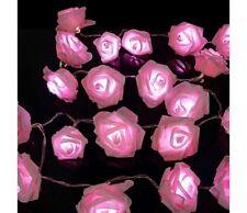 SENTIK 20 LED Stringa Fiore Rosa Lucine Natale Indoor Camera da Letto-Rosa