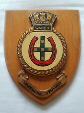 Vintage HMS WAGER ROYAL NAVY Plaque Shield RN WW2 Destroyer