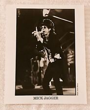 MICK JAGGER Photograph KEVIN MAZUR Promo B&W 8x10 Press Photo Rolling Stones