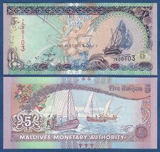 MALEDIVEN / MALDIVES 5 Rufiyaa  2011 UNC P.18 d