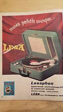 PUBBLICITA' ADVERTISING WERBUNG 1956 GIRADISCHI FONOGRAFI LESA LESAPHON (E285)