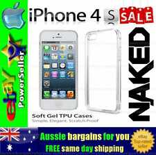 Soft Gel TPU flexible clear case cover skin for Apple iPhone 4 4s protection
