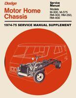1976-1977 dodge motorhome shop manual m300 m400 m500 m600 motor home  service | ebay  ebay