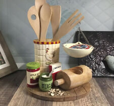 Yankee Candle Kitchen Hanging Tart Warmer Burner Retired Rolling Pin Spices Hen