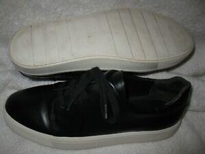 Vince women's Bale model black leather lace up sneakers shoes size 8.5 medium