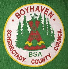 VTG BSA Boy Scouts BOYHAVEN 1990 Schenectady County Council 50/50 T-Shirt SMALL